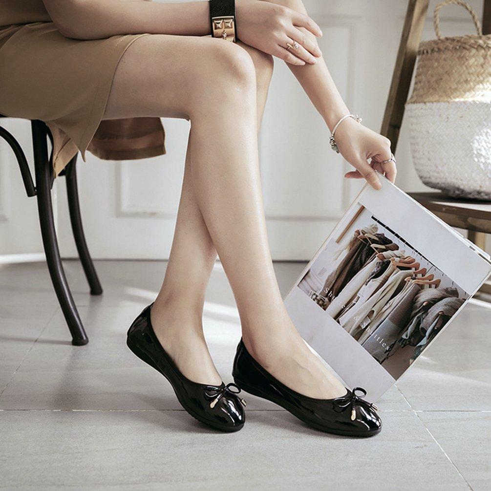 Jitong Donna Bowknot Mocassini Mocassini Mocassini Slip-on Morbido Rotonda Loafers Casuale Elegante Scarpe Piatti Nero a3144c