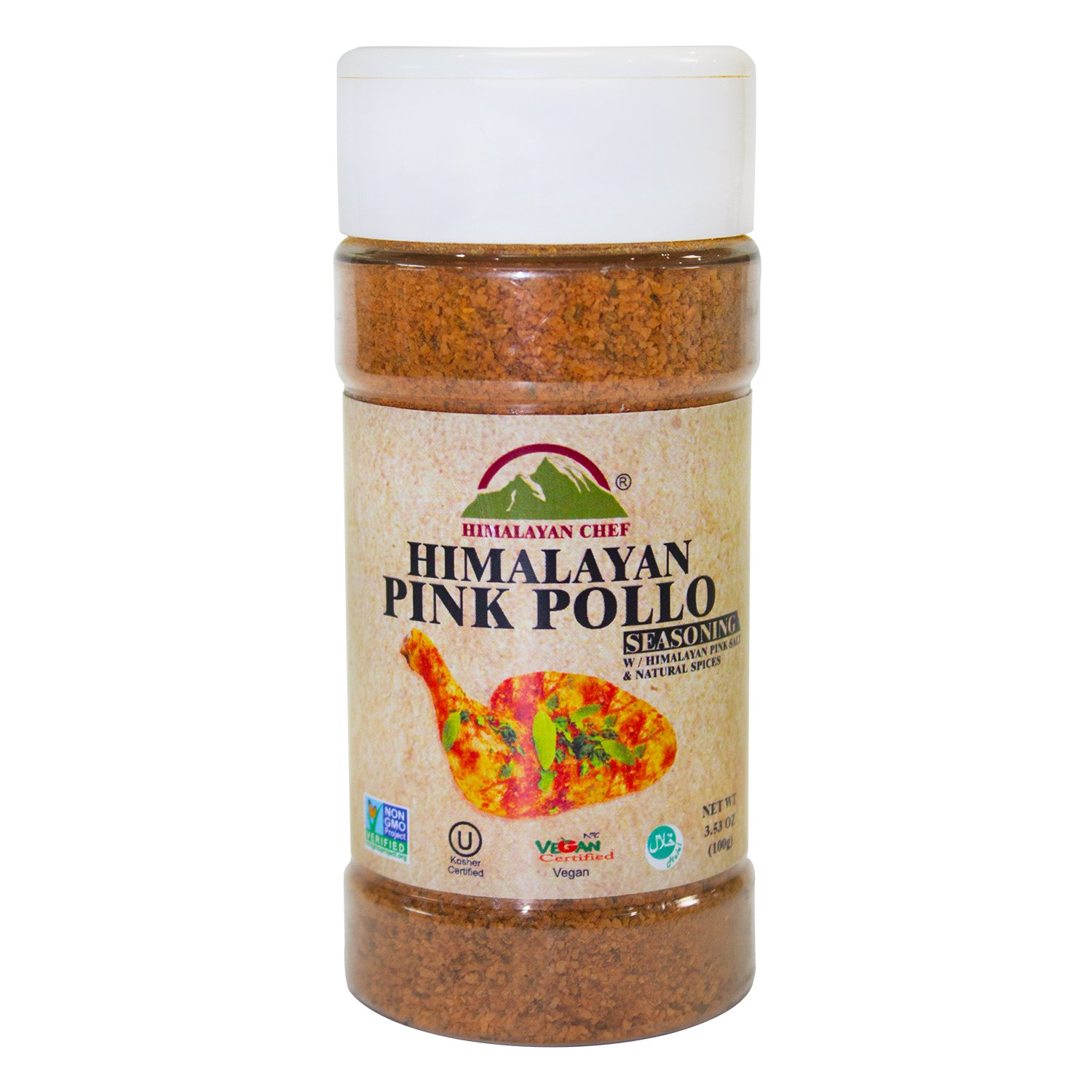 Himalayan Chef Pink Pollo Seasoning Jar, 3.53 Ounce,Blend of celery seeds, paprika and spices (Pack of 6)