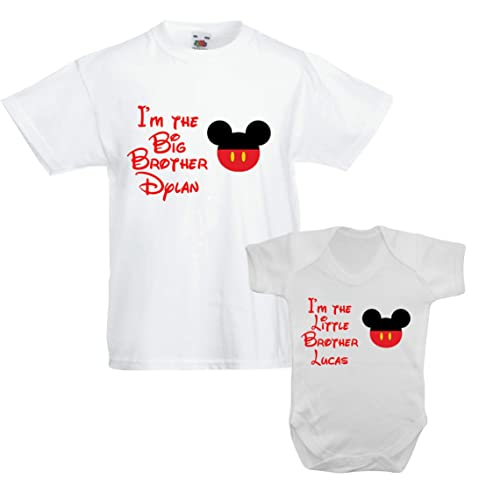 Sister T-shirt can be personalised or  I/'m going to be a Little Brother Big