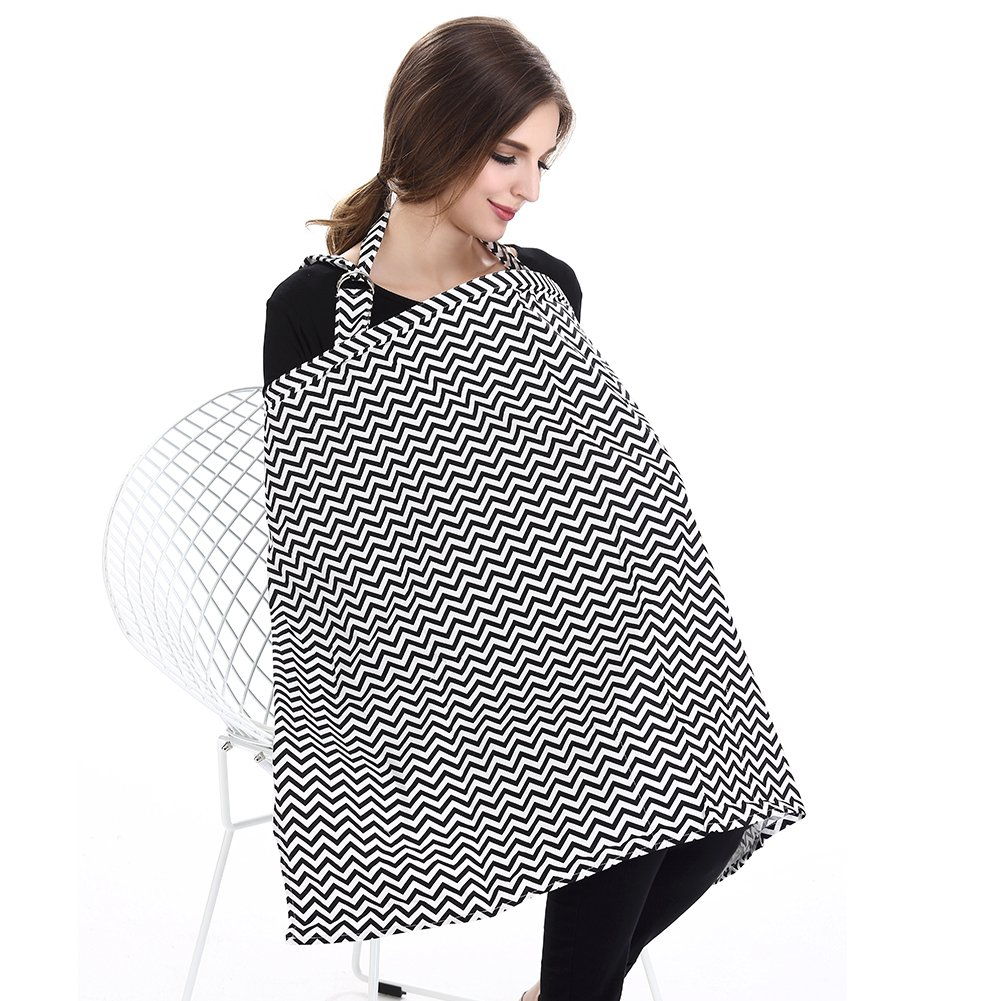 Accmor Nursing Cover Breastfeeding Cover, Multi-use Breathable Cotton Flax Breastfeeding Cover Ups Nursing Apron, Full Coverage, Rigid Neckline, Covers Up Newborns in Public by accmor (Image #7)