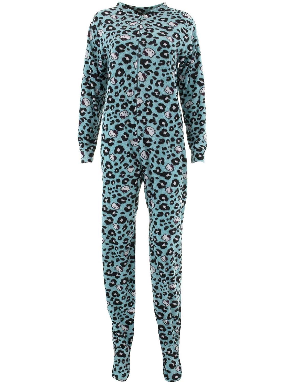 df65214e1 Hello Kitty Womens Lovely Dreamer Polar Fleece Jumper Footed Pajamas at Amazon  Women's Clothing store:
