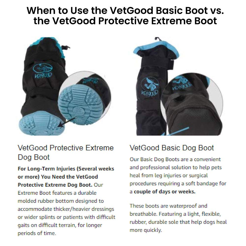 VetGood Oversized Extreme Waterproof & Breathable Dog Boot to Cover Bandages, Splints and Casts (Medium) by VetGood