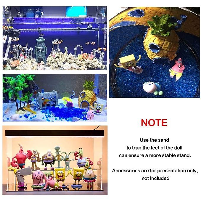 Amakunft Esponja Bobobo decoración de Acuario, 12 Piezas de Resina pecera Adornos Decorativos Accesorios (3