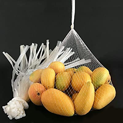 """New 100pcs 24/"""" Clear Plastic Mesh for Produce Bags Seafood Fruit Vegetable Net."""