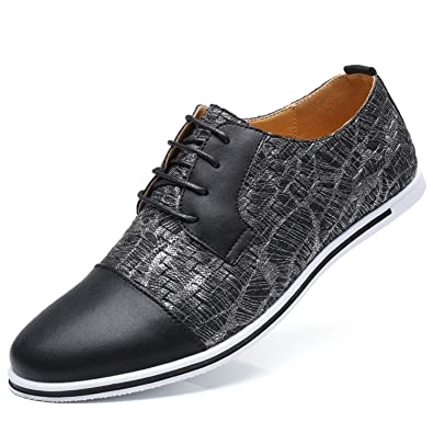 Amazon.com | Mens Shoes Spring Autumn Men Casual Shoes Breathable Lightweight Men Flats Soft Pu Leather Oxford Shoes Moccasins | Oxfords