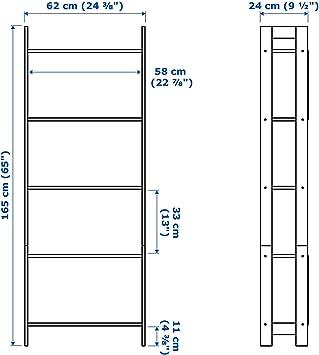 IKEA LAIVA estantería de abedul de la educación; (62 x 165 cm)
