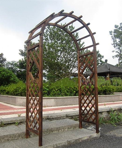 ZENGAI Armarios semicirculares de la parrilla de la madera sólida Arcos de la rejilla semicirculares de
