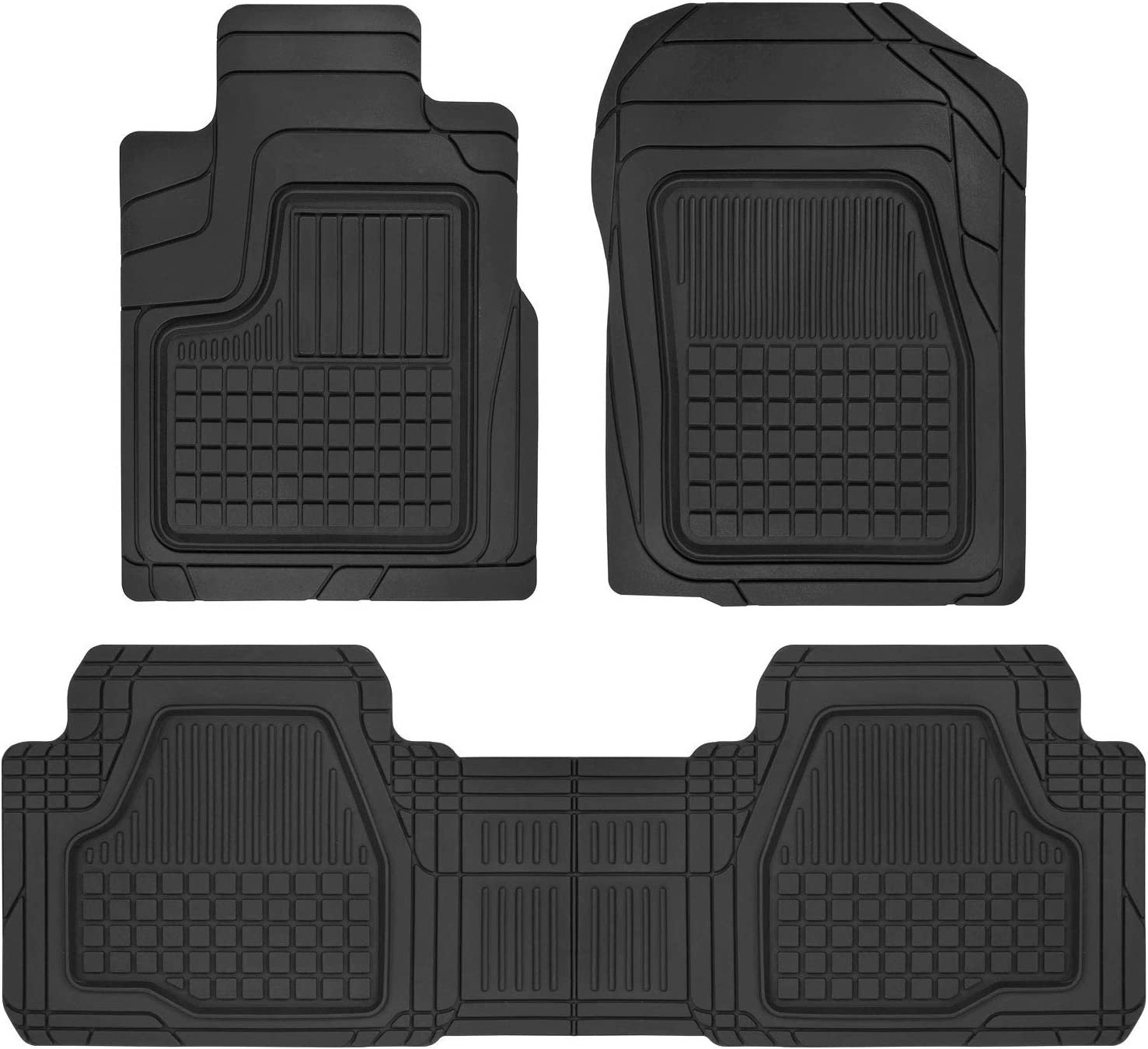 Custom Fit Premium Trim, All Weather Deep Dish Car Floor Mats for Ford Escape, Honda CR-V, Toyota RAV4