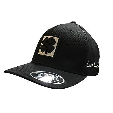 Black Clover Black White Black Lucky Square 1 Snapback Hat at Amazon ... a9b6800368c