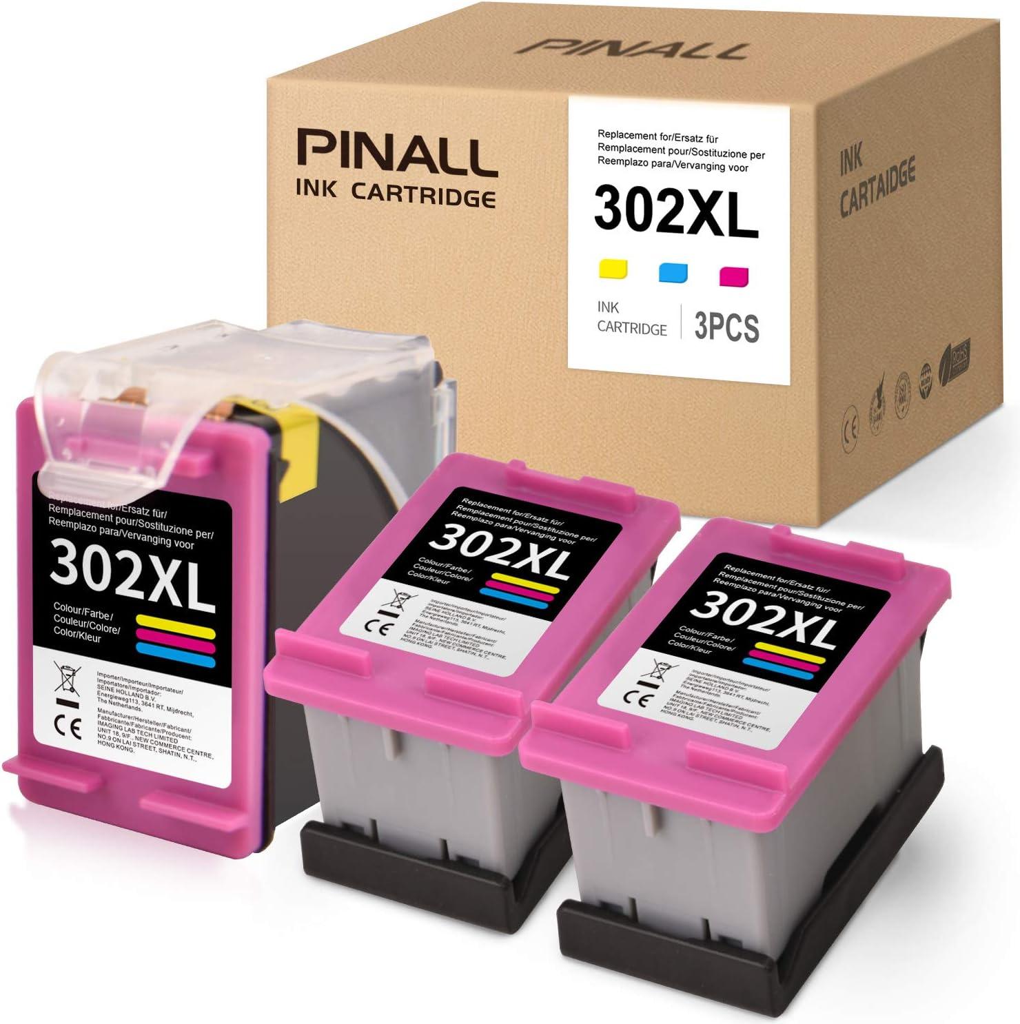PINALL Remanufacturado Cartuchos de Tinta Reemplazo para HP 302 XL 302XL Compatible con HP Envy 4520 4527 4524 DeskJet 1110 3630 2130 2132 3637 3636 3638 OfficeJet 4652 3830 3831 3833 (3X Color: Amazon.es: Electrónica