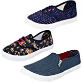 Earton Women Combo Pack of 3 Casual Sneakers With Loafers Shoes