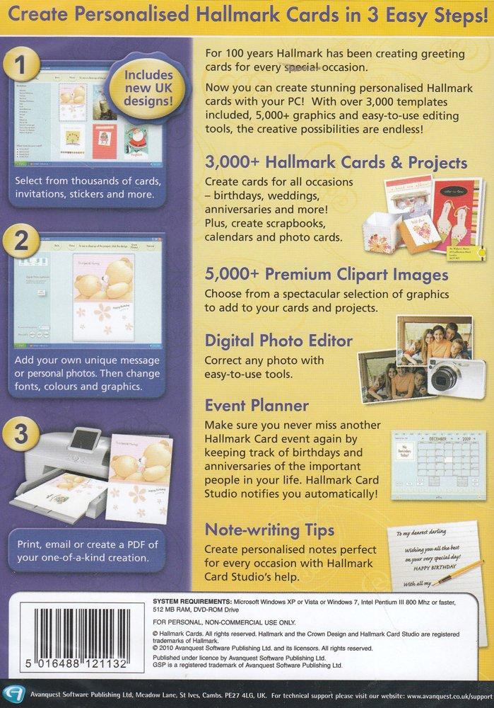 Hallmark Card Studio PC Amazoncouk Software - Hallmark card templates