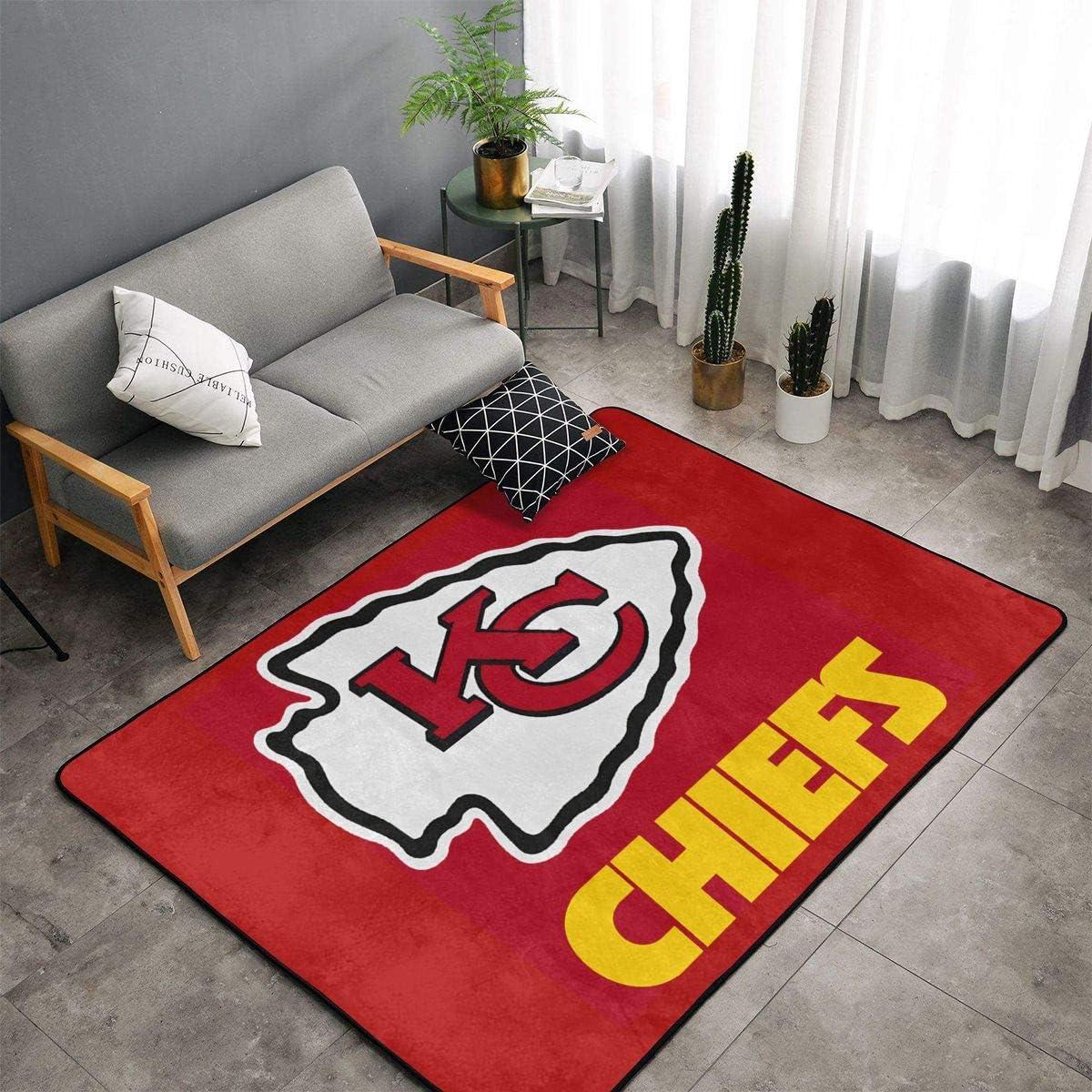 HeatherAssante Decoration Kansas City Chiefs Easy to Clean Non-Slip Carpet, Area Carpet, Indoor Carpet and Living Room Carpet, Floor mat, Bedroom