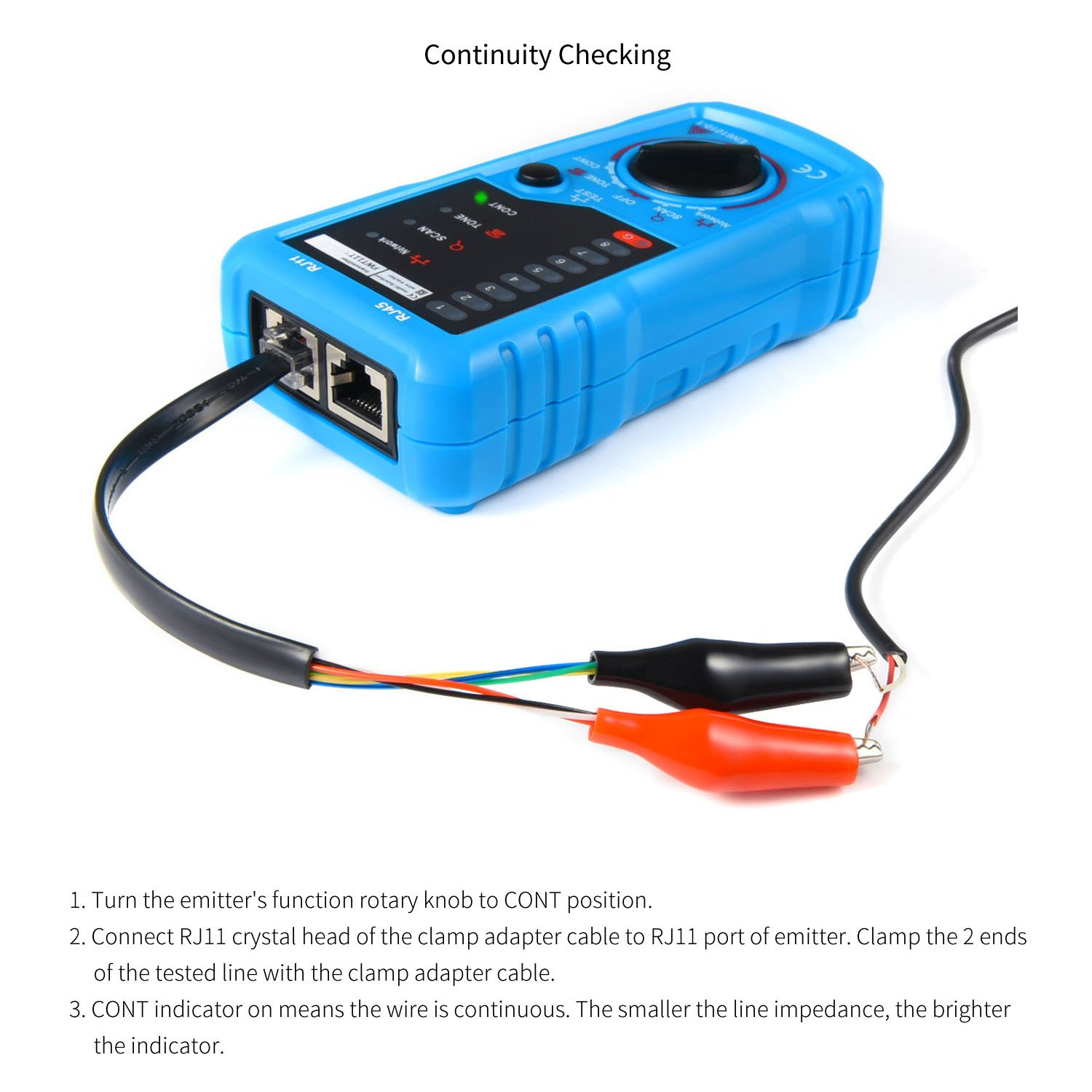 Professional Wire Tracker RJ11 RJ45 Cable Tester for Ethernet LAN ...