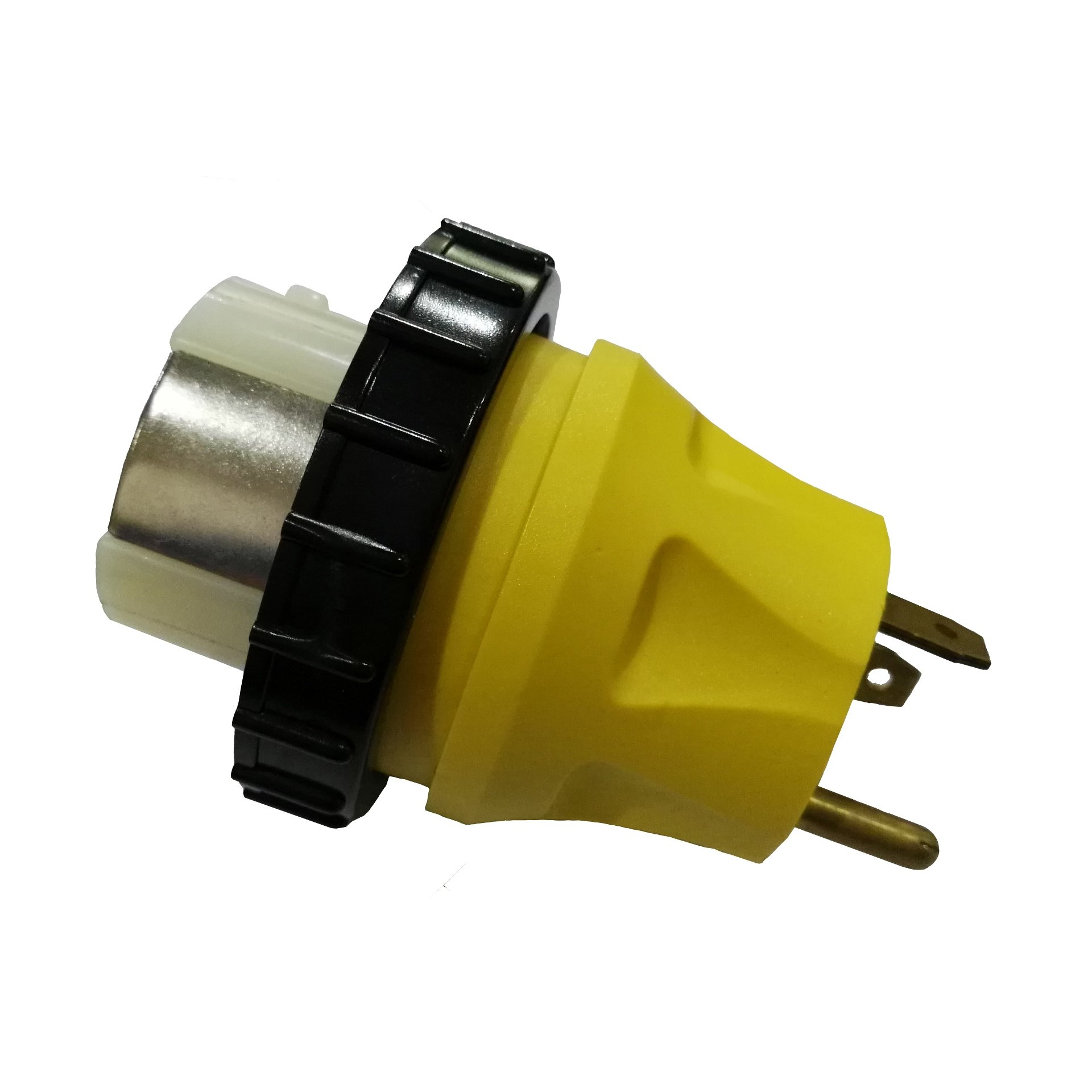 Parkworld 691722 RV Adapter RV 30A TT-30P male to Shore Power 50A SS2-50R female (two hots bridged) with locking ring
