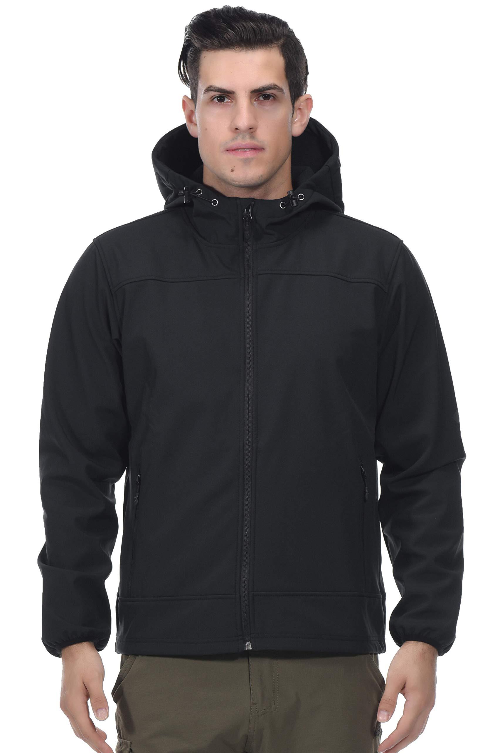 Mens Softshell Fleece-lined Jackets//Winter Outdoor Coats//Windbreaker,Medium-weight,Water-repellent TRAILSIDE SUPPLY CO