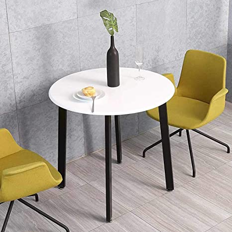 Amazon Com Homooi Round Dining Table White Kitchen Round Table For Small Spaces Studio Apartment Rv Tables