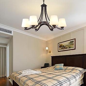 DIDIDD Kronleuchter Amerikanischen Einfachen Eisen Kronleuchter Für  Wohnzimmer Esszimmer Cafe Schlafzimmer (Eisen Antikorrosion)