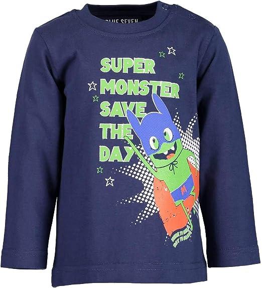 Rundhals T-Shirt Blue Seven Baby-Jungen