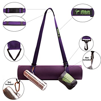 Amazon.com: PREMIUM ajustable Yoga Mat Correa de Transporte ...