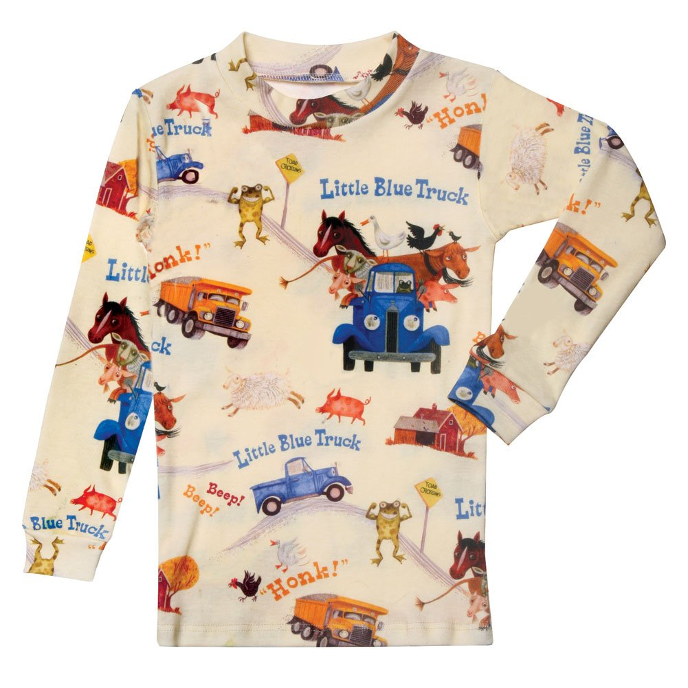 Children's Little Blue Truck Print Pajama Top and Bottom Set
