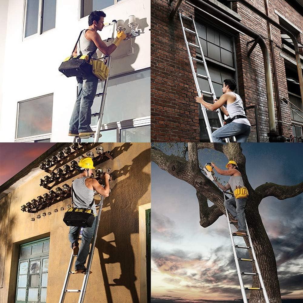 15 Steps Loft Extension Ladder 330 pound//150 kg Capacity wolketon 4.4M Telescopic Ladder Aluminum Telescopic Extension Ladder Extension Tall Multi Purpose Loft Ladder