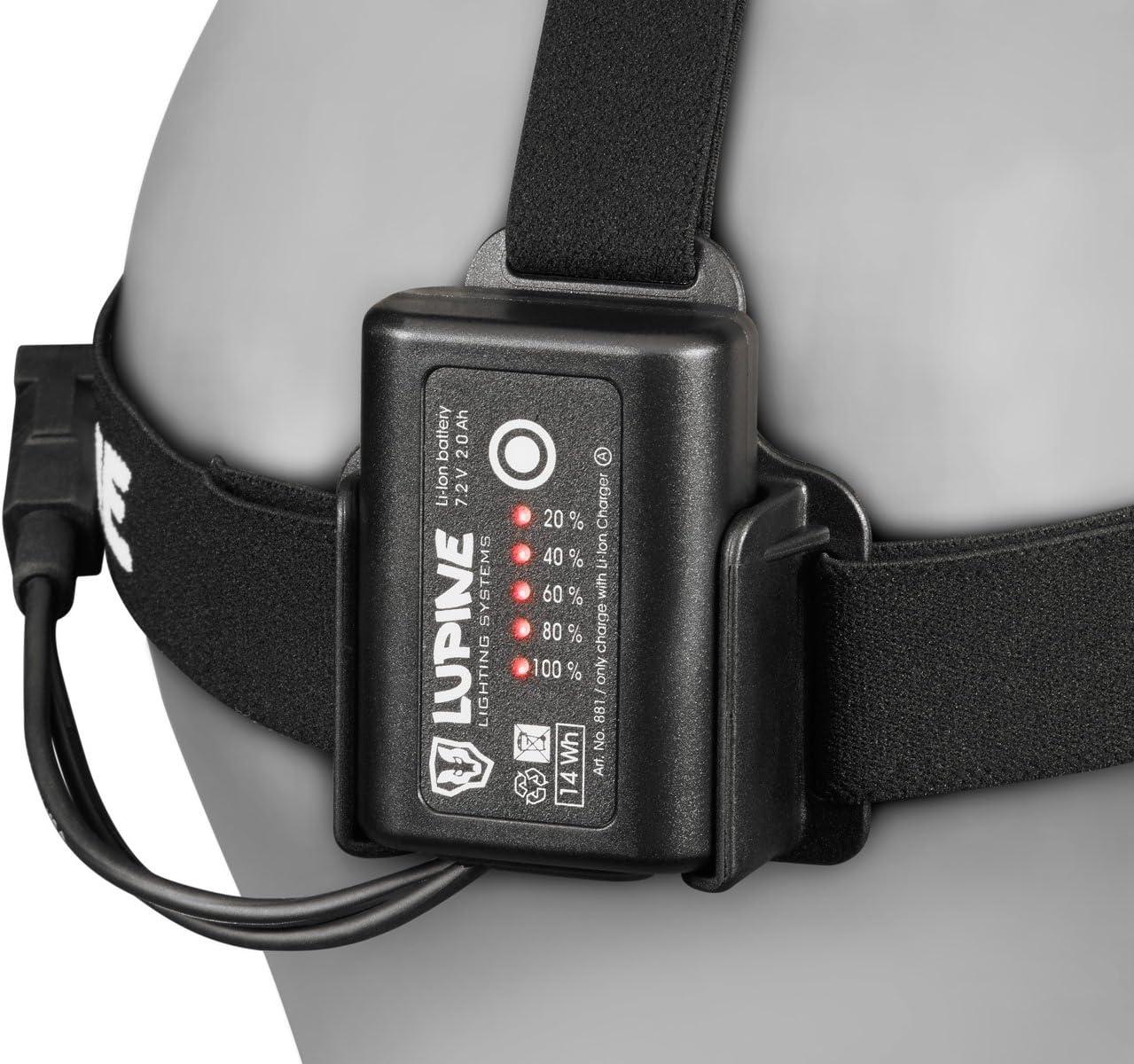 M Lupine 842/Batterie avec Fixation fastClick Noir