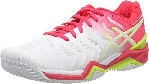ASICS Damen Gel-Resolution 7 Clay Tennisschuhe, Schwarz
