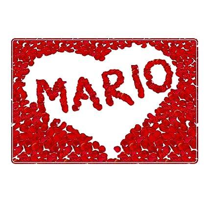 Mesa De Diseno Con Nombre Mario Con Diseno De Corazon De Rosas