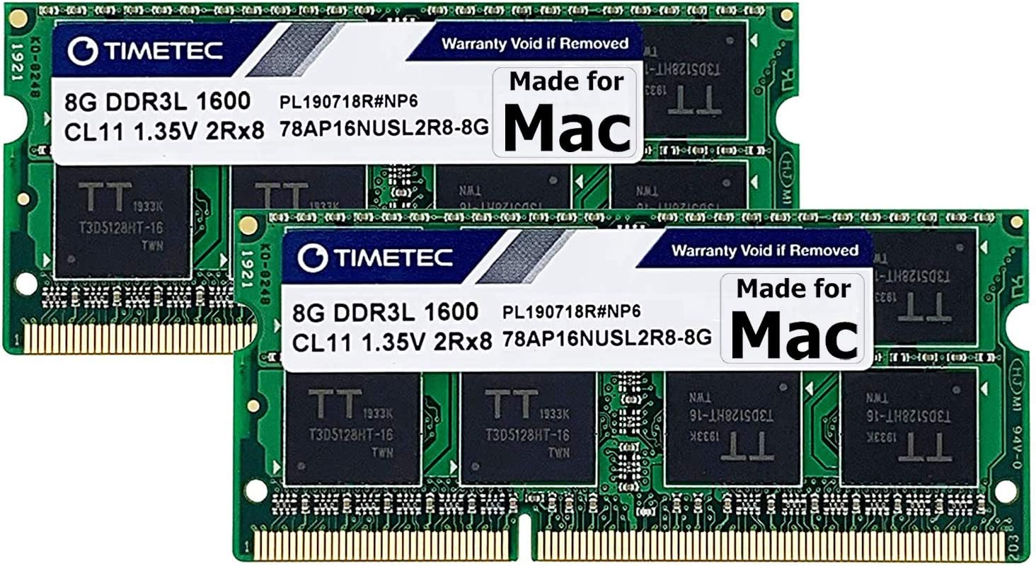 2x8GB Apple OEM Ram 16GB DDR3-1600 PC3-12800 soDimm Memory various brands