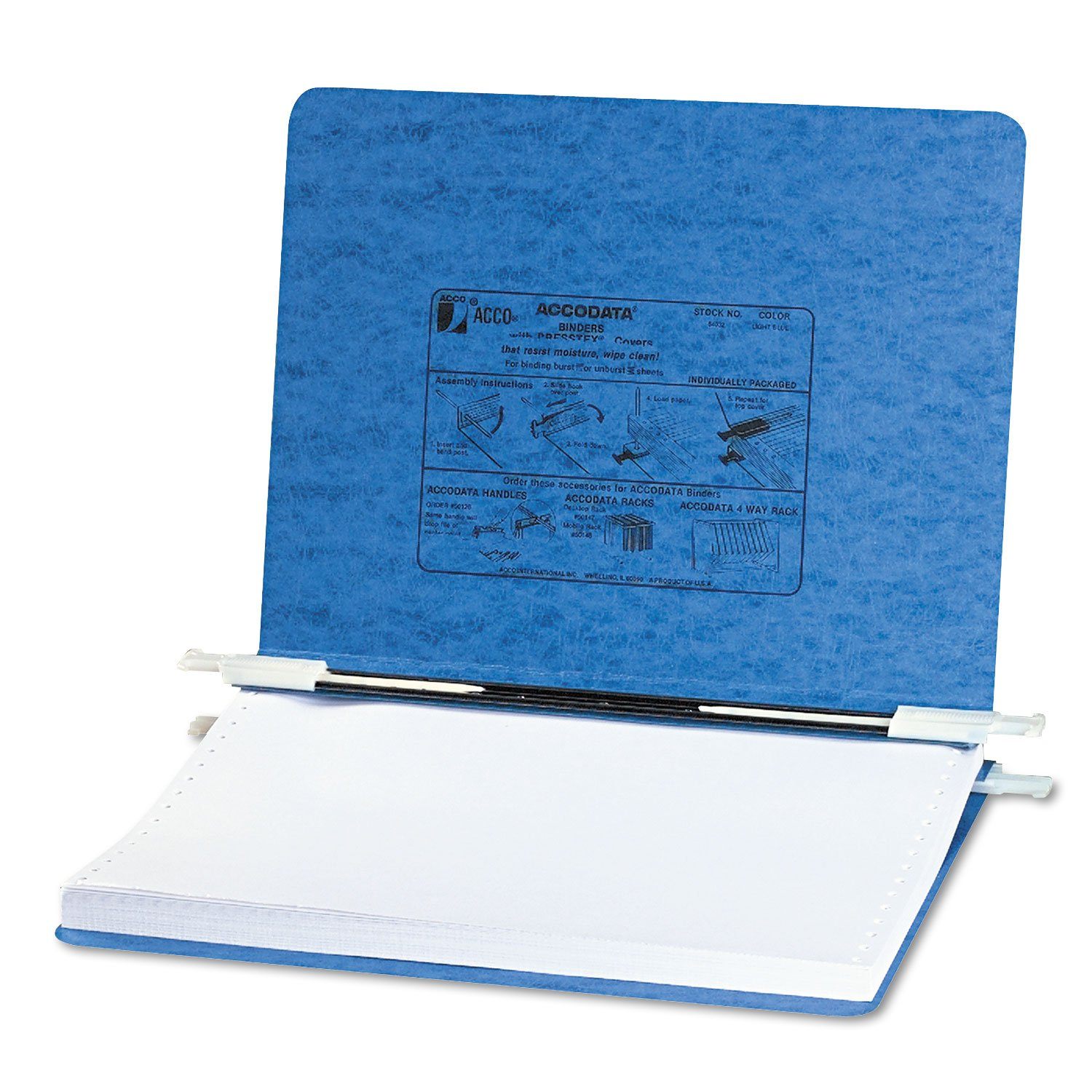 ACCO 54032 Data Processing Binder, 6'' Cap, 11-3/4''x8-1/2'', Light Blue by Office Realm (Image #1)