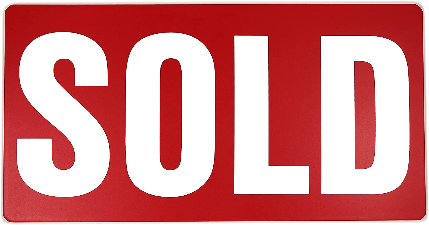Sold Sign for New Home Owners - Real Estate Agent Supplies - Just Sold - Social Media Photo Props for Realtors and Home Owners - Our New Home Sign - Closing Sign - First House