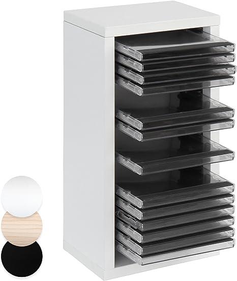 Jago Cd Regal Mit Platz Für 20 Cds Zur Ordnung In Der Farbe Weiß Aus Robustem Mdf Küche Haushalt