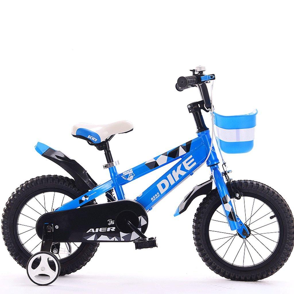 子供用自転車12/14/16/18インチ212歳の男の子と女の子用自転車三輪車 (色 : 青, サイズ さいず : 12インチ) B07D7TWGK2 12インチ 青 青 12インチ