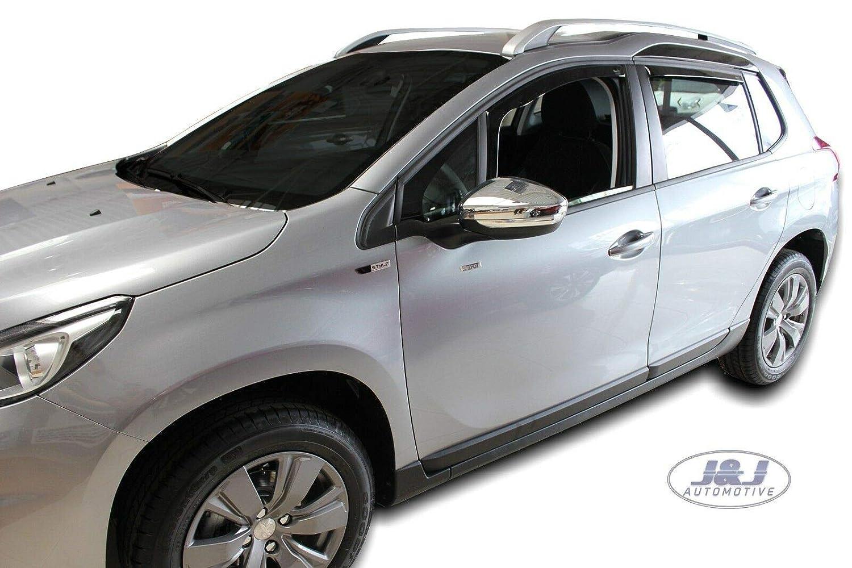 Deflecteurs dair D/éflecteurs de Vent Compatible avec Peugeot 2008 5 Portes 2013 pr/és 4 pcs J/&J AUTOMOTIVE