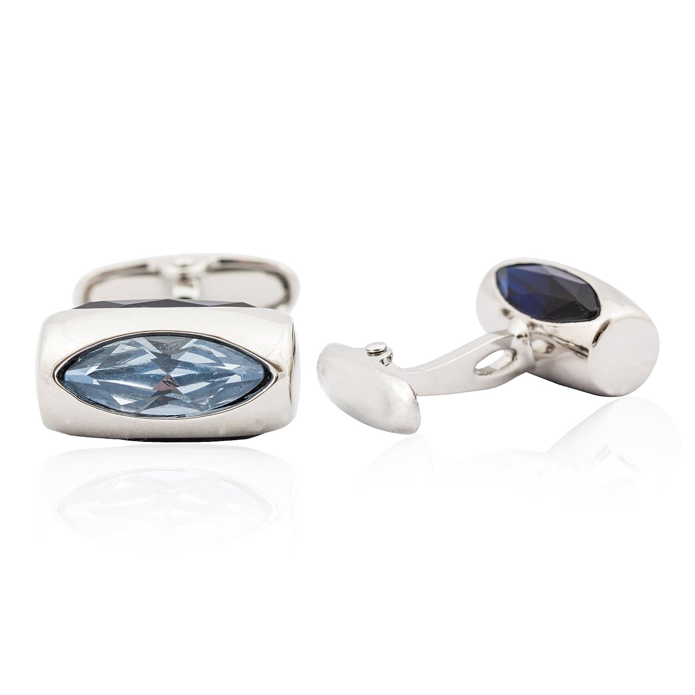 Cuff-Daddy Aquamarine Crystal Glass Vault Cufflinks SO-11-3007