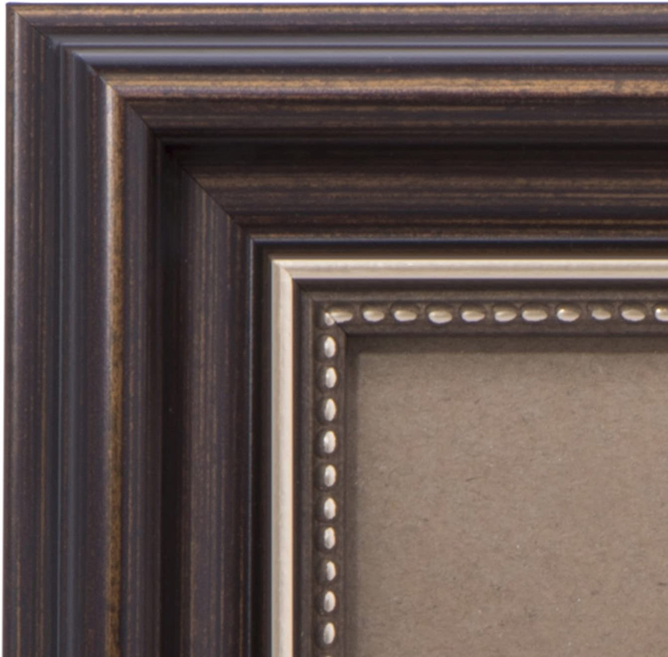 8x10 Picture Frame Antique Brown - Mount Desktop Display, Frames by EcoHome