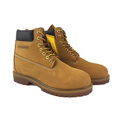 LABO Fuda Men's Leather Working Boot - 6061-TAN-11.5: Shoes