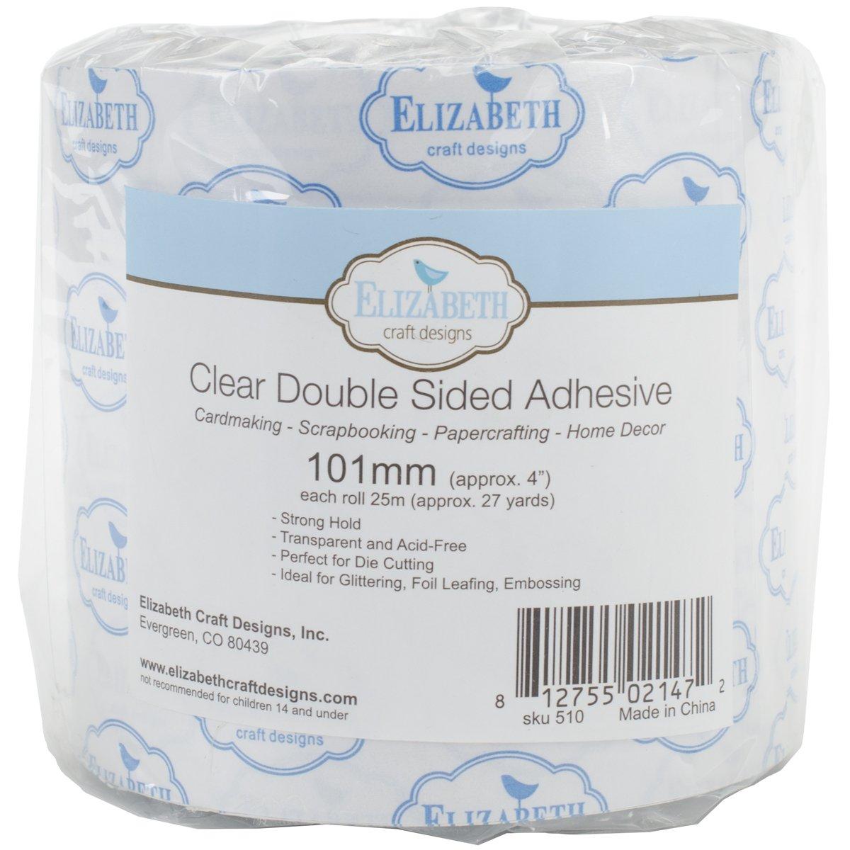 Elizabeth Craft Designs EC510 Clear Double Sided Adhesive Tape 4'' X27yd, by Elizabeth Craft Designs