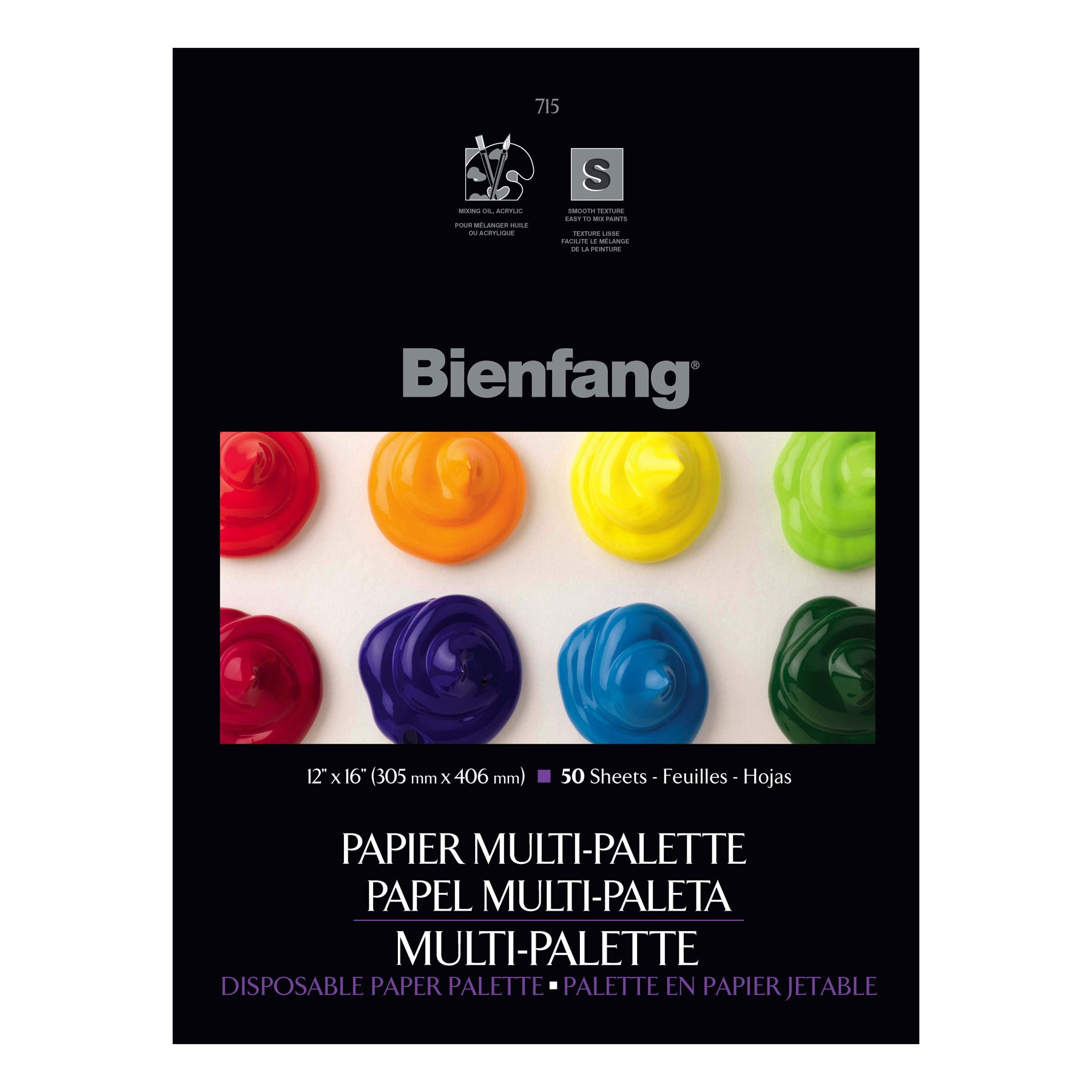 Bienfang 12 by 16-Inch Multi-Palette Disposable Palette, 50 Sheets by Bienfang