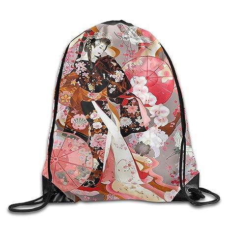 Jkimiiscute Mochila japonesa Geisha estampada Kawaii con ...