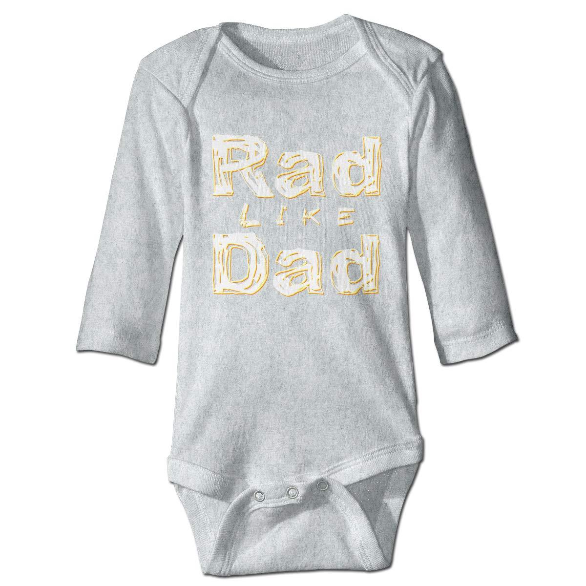 XHX Baby Rad Like Dad/6 Long Sleeve Romper Onesie Bodysuit Jumpsuit