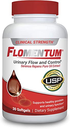 Flomentum Men s Health Prostate Supplement Supports Healthy Urinary Function Clinical Strength – USP Verified 30 Count