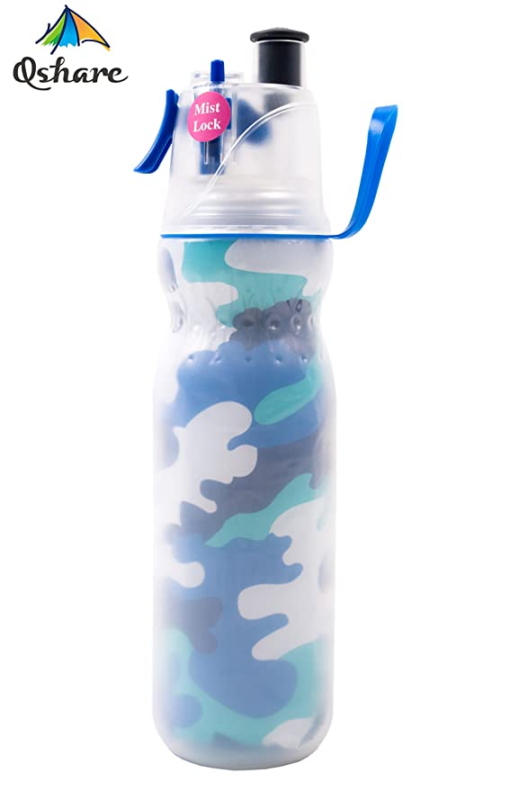 Review Qshare Misting Water Bottle,