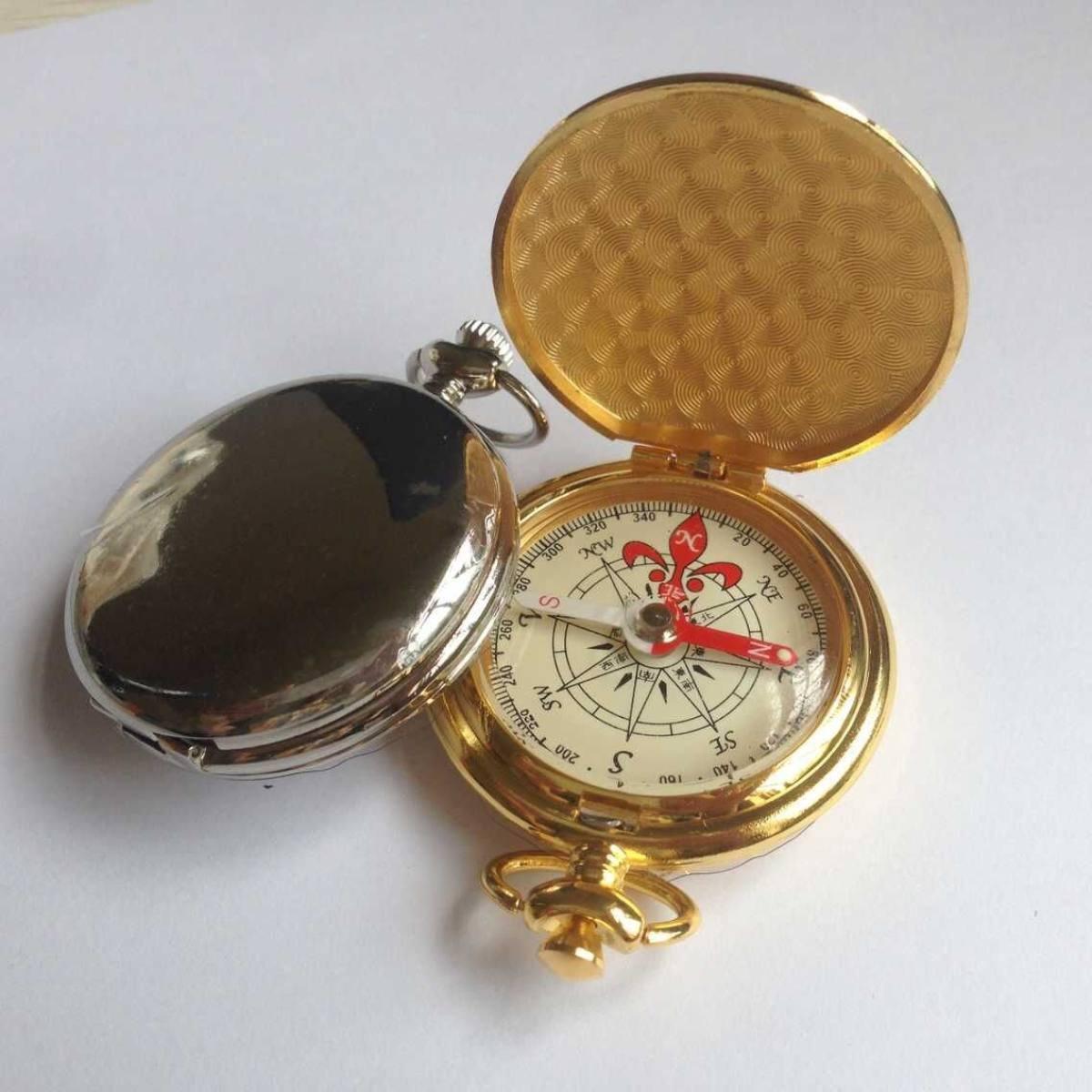 HWZNZ-HWSP Kompass Taschenkompass Retro-Kompass Klassischer Stil High-End-Geschenk-Kompass