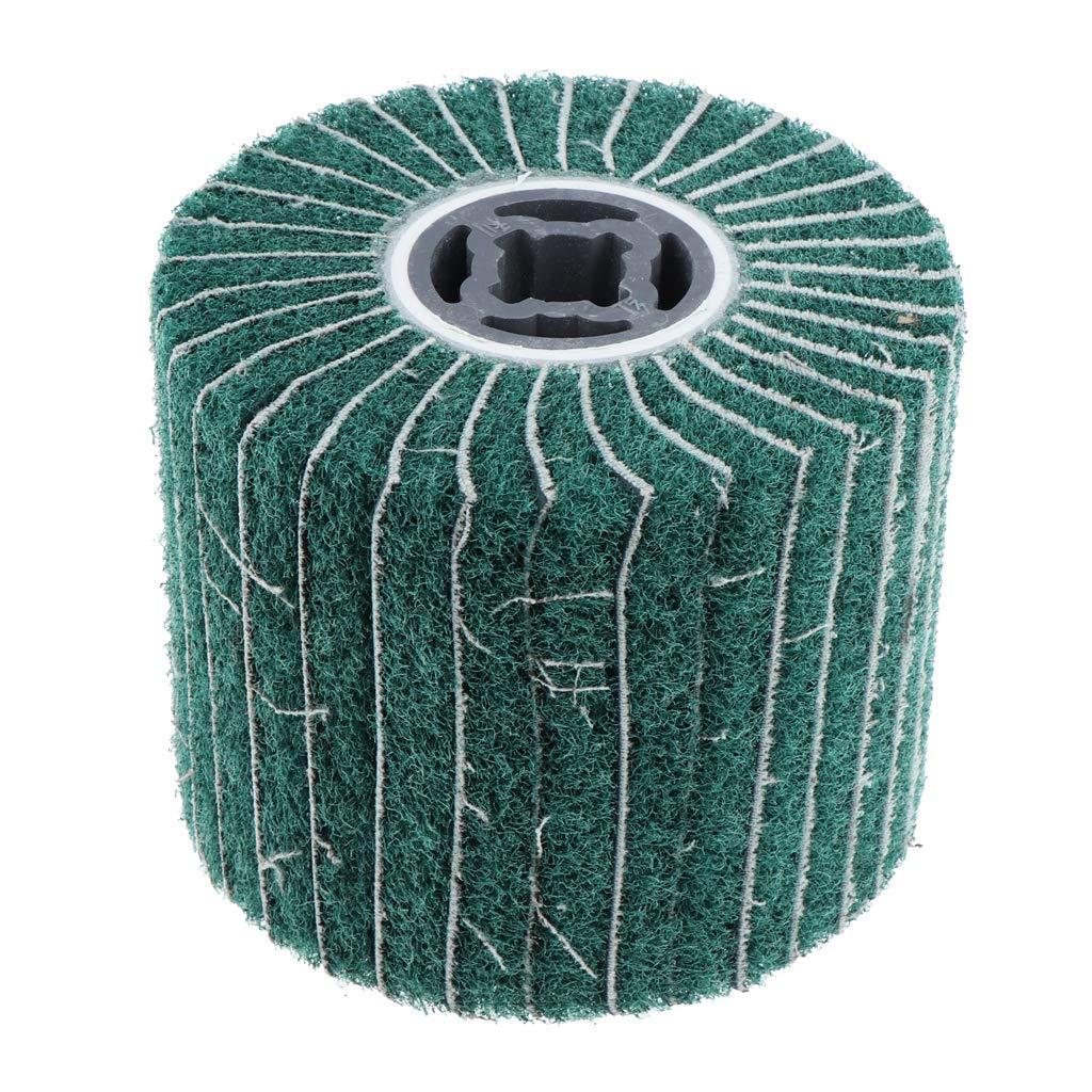 as described B Blesiya Wire Drawing Wheel Brush Drum Burnishing Polishing Buffer Wheel Grit 120mm 240