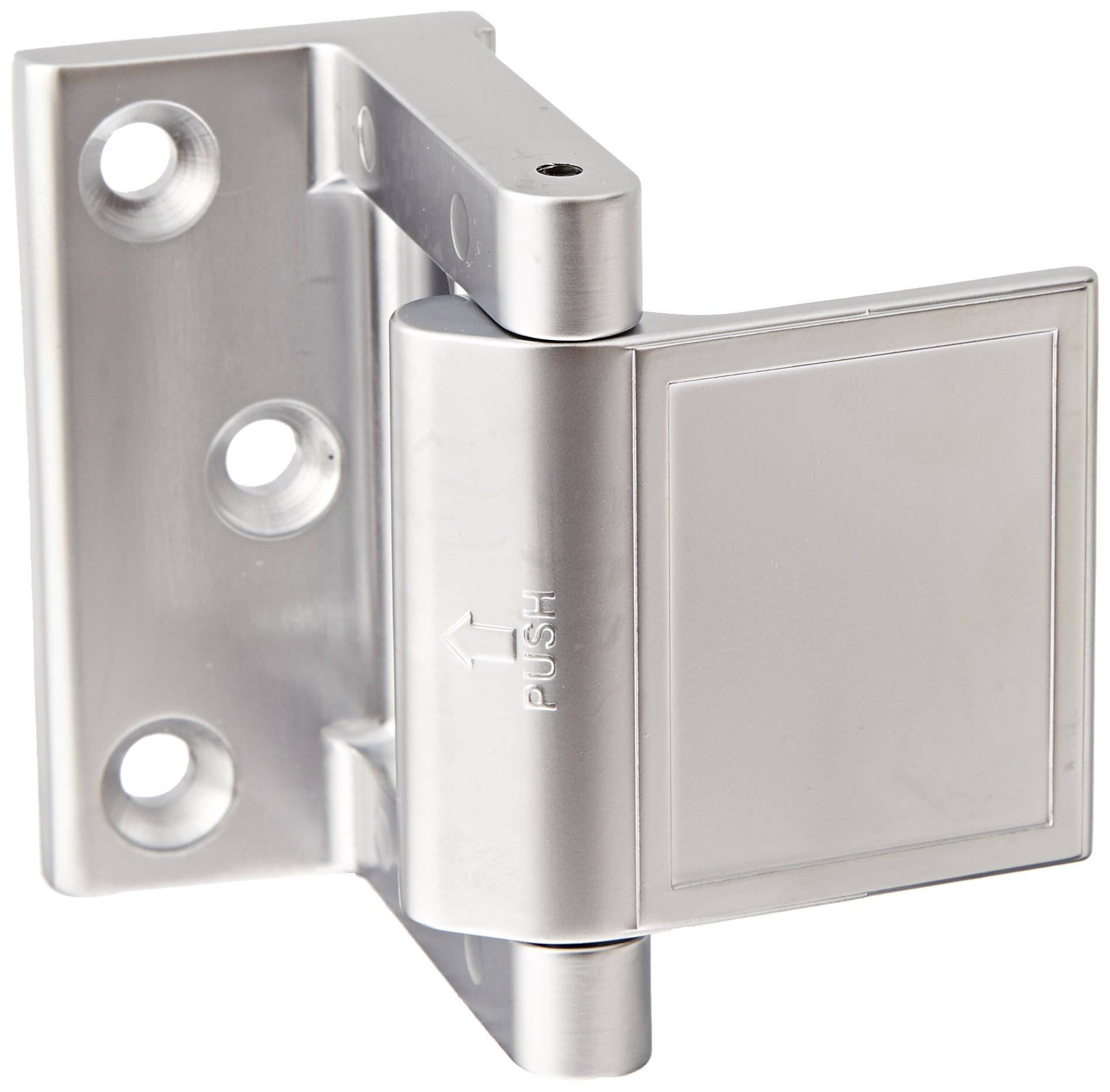 Rockwood PDL.15 Zinc Die Cast Privacy Door Latch, 1-1/2'' Width x 2-13/64'' Length, Satin Nickel Plated Clear Coated Finish
