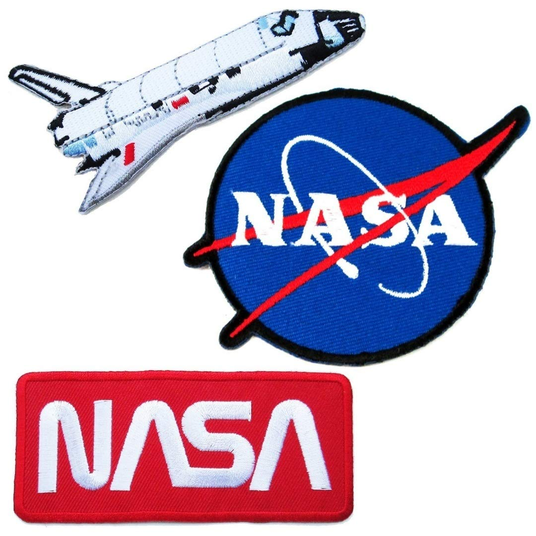 62c9bf81 Nasa Iron on Patches #5 - Super Save PackA lovely Appliques Hat Cap Polo  Backpack Clothing Jacket Shirt DIY Embroidered Iron On / Sew On Patch.
