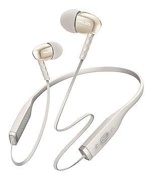 Philips SHB5950WT/00 - Auriculares (Inalámbrico, Dentro de oído, Banda para Cuello, Binaural, Intraaural, 10-21000 Hz, Blanco): Amazon.es: Electrónica