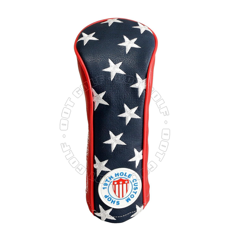US Flag Stars and Stripesフェアウェイウッドメタルウッド用ヘッドカバー、ブルー/レッド/ホワイト B071L5QGBC